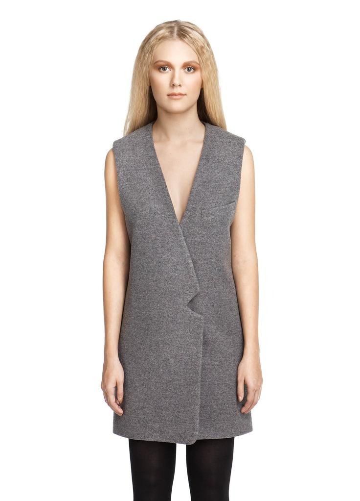 BACK / Sleeveless Jacket Grey (260€-70%)   Acolyth   Model: Julia Ranta