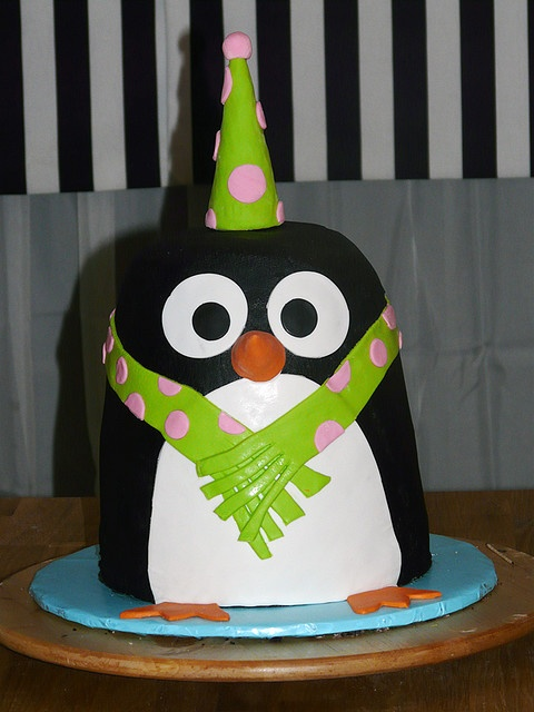 Penguin cake.  But make it with red, blue, and green.