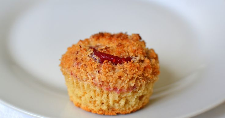 Raspberry Swirl Muffins with Coconut Crumble