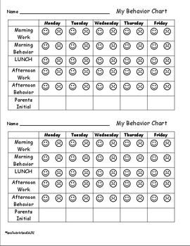 Simple Weekly Behavior Charts and Parent Communication