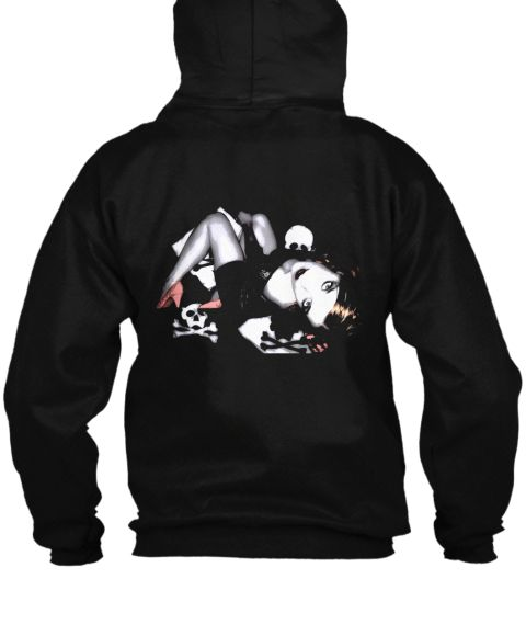 Skulls Pinup Black Sweatshirt Back