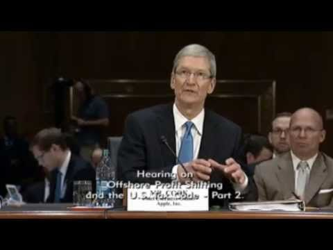 Apple CEO Tim Cook Testifies About Avoiding Taxes- Part 1 of Hearing  ||  A Senate subcommittee questions Apple CEO Tim Cook about how Apple has apparently legally avoided paying billions of dollars in taxes to the US government by setting up companies in other countries. Part 2 is here: http://www.youtube.com/watch?v=fWV5jC...