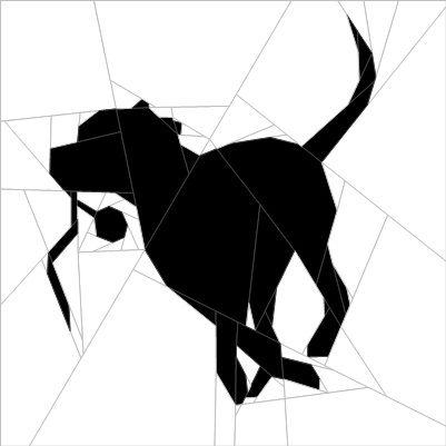 Silhouette Dog #4 Paper Piecing Pattern quiltartdesigns.blogspot.com