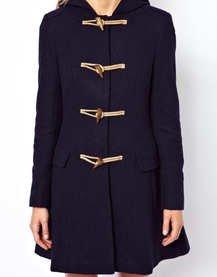 Duffle Coat à capuche Bleue ou Gris ASOS 91€