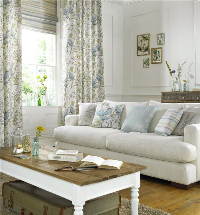 Bring the outside in with the stunning Fleur Collection and invite sophisticated style into your home with this beautiful collection of botanical prints and weaves.  #charlesparsonsinteriors #ashleywilde #fabric #material #drapery #curtains #floral #print