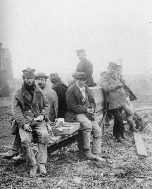 Navvies, Manchester Ship Canal, 1880s
