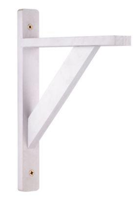b q white wood shelf bracket d 300mm d traditional and. Black Bedroom Furniture Sets. Home Design Ideas