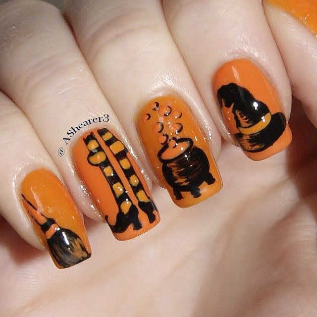 Pin by Christina Cason on Hall o ween nails | Halloween ...