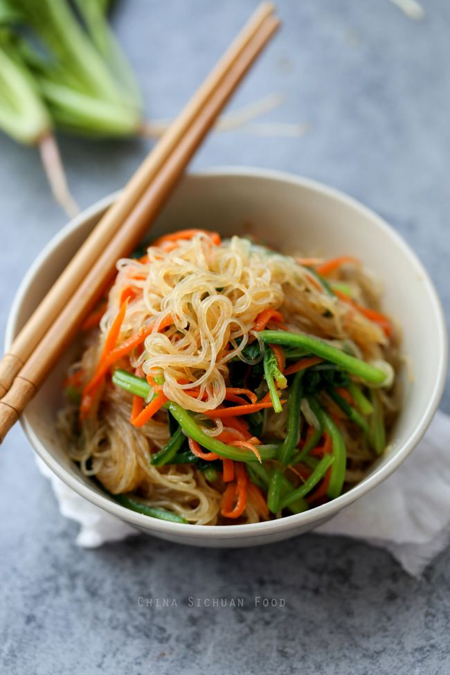 Bean Thread Noodles salad -  also named as Mung Bean Noodles, cellophane noodles or bean vermicelli is a popular non-flour noodle in Chinese cuisine. It is healthy, easy to prepare and always taste great in stir-fry dishes, soups, stews and salad.