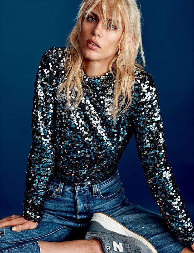 A Casual Take On Sequins