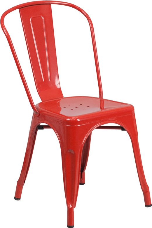 Completely transform your living or restaurant space with this vintage style chair. Adding colorful chairs can rev up any setting. The versatility of this chair easily conforms in different environmen