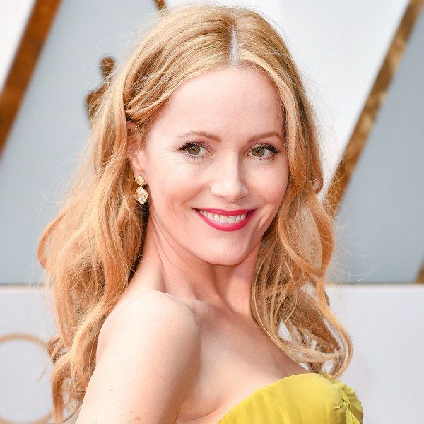 Celebrity styles are featuring less volume on top, more on the sides and back, thanks to increasingly popular middle parts, like this one on Leslie Mann, and deep side parts. Image: E! Online