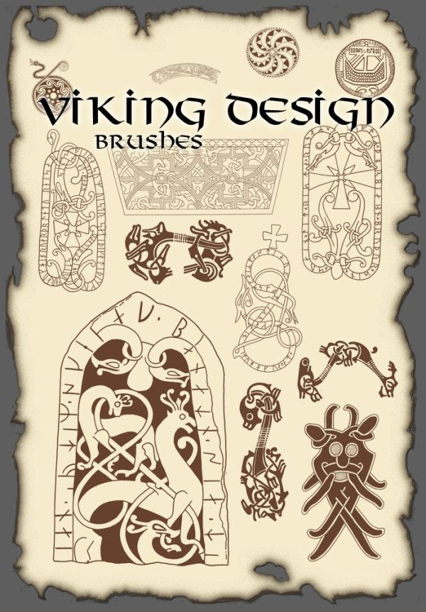 The high definition Vikings Viking design pattern PS brush