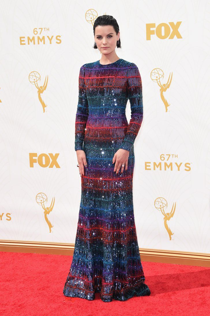 Pin for Later: These Stars Couldn't Help but Shine on the Emmys Red Carpet Jaimie Alexander In Armani Privé.