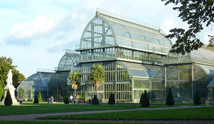 La grande serre du parc de la tête d'Or Lyon France