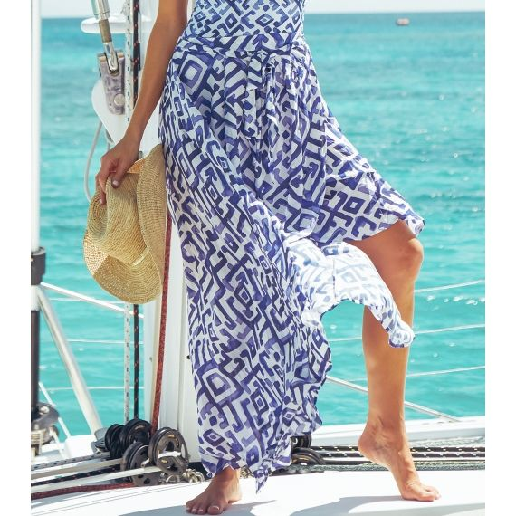 Frida Skirt Navy/White