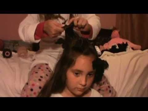 peinado - rizos con medias o calcetines -  para no maltratar el pelo de ...