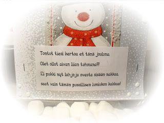 Piian Räpellykset: Joulukalenteri 2010 - 12. luukku - Lumiukon kakkaa :)