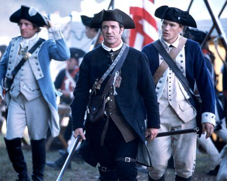 """""""The Patriot"""" (2000) is a movie I can watch again and again.  I love Mel Gibson, Heath Ledger, and Jolie Richardson in this film.  Even the evil Colonel Tavington is played well."""