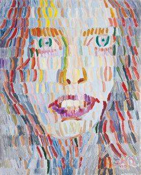 오상훈 Sanghoon Oh/ 여인 1104 A woman 1104/ Oil on Korean paper 162x130cm 2011