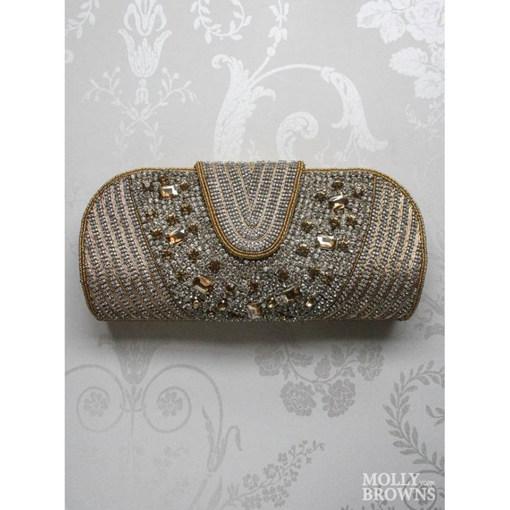 Gold Crystal Clutch Bag