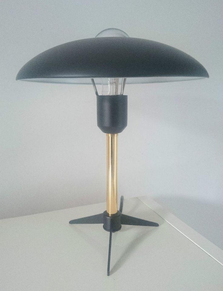 1950s Vintage Philips Black Desk Lamp by LOUIS KALFF EAMES STILNOVO ARTELUCE