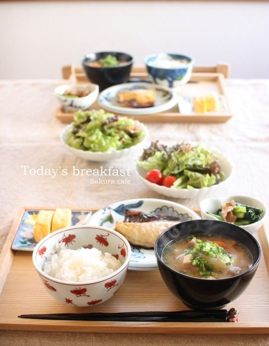 Japanese Breakfast 和風の朝ごはん-Now that is breakfast ^•^