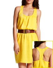 Love yellow! Charlotte Russe $28.99: Summer Dresses, Yellow Dresses, Bridesmaid Dresses, Racerback Dresses, Belts Yellow, Charlotte Russe, Charlotteruss Yellow, Casual Dresses, Hammered Satin