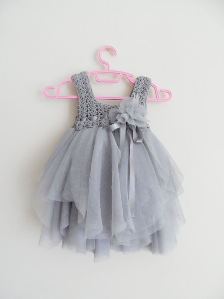 Silver+Gray+Baby+Tulle+Dress+with+Empire+Waist+and+by+AylinkaShop,+$50.00
