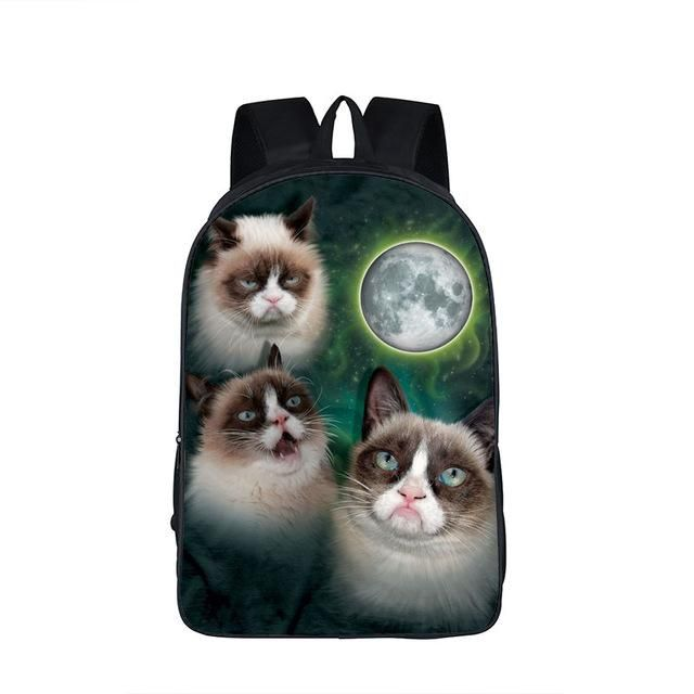 Galaxy Universe Unicorn Cheshire Cat School Backpack For