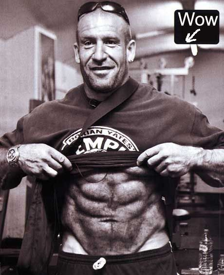 Dorian Yates aged 50 years old and still rock hard chiseled abs. Description from pinterest.com. I searched for this on bing.com/images