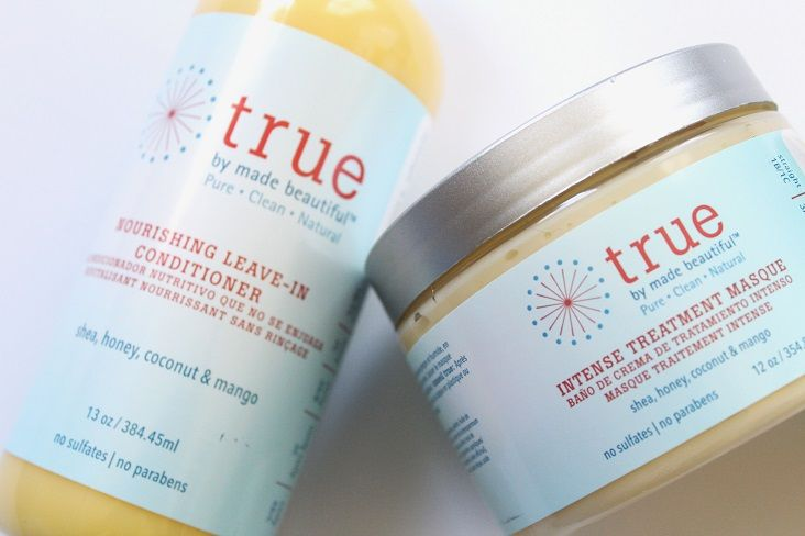 True by Made Beautiful smells like a vacation in a bottle. Packed with shea butter, honey, coconut and mango...your locks will thank you! Their leave-in is bomb, too.