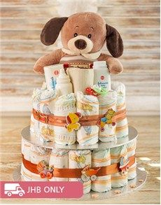Unique Baby Gifts: Puppy Nappy Cake!