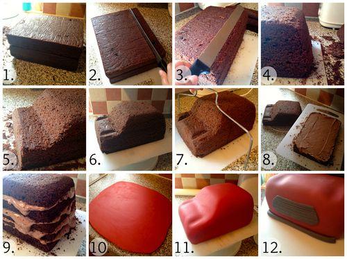 She Who Bakes..., Car Cake Tutorial! (Mini Cooper)