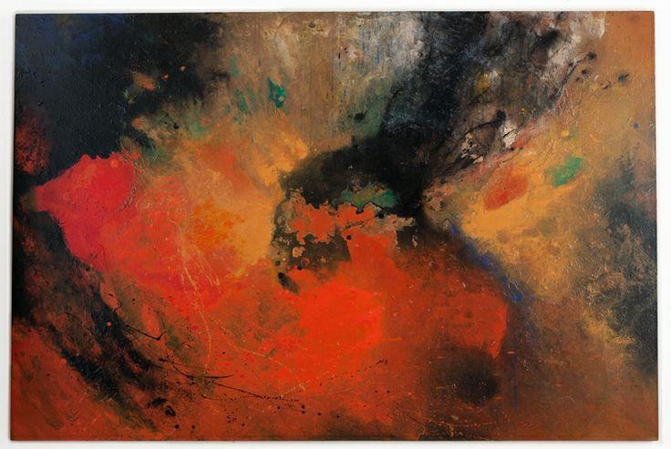 Walter Erra Hubert - within/without #5 - acrilico su tela - 4' x 6' (183 x 122 cm) - 2014    www.VillicanaDAnnibale.com