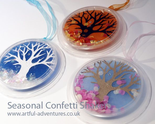 Artful Adventures » Blog Archive » Seasonal Confetti Shakers... Thinking hearts…