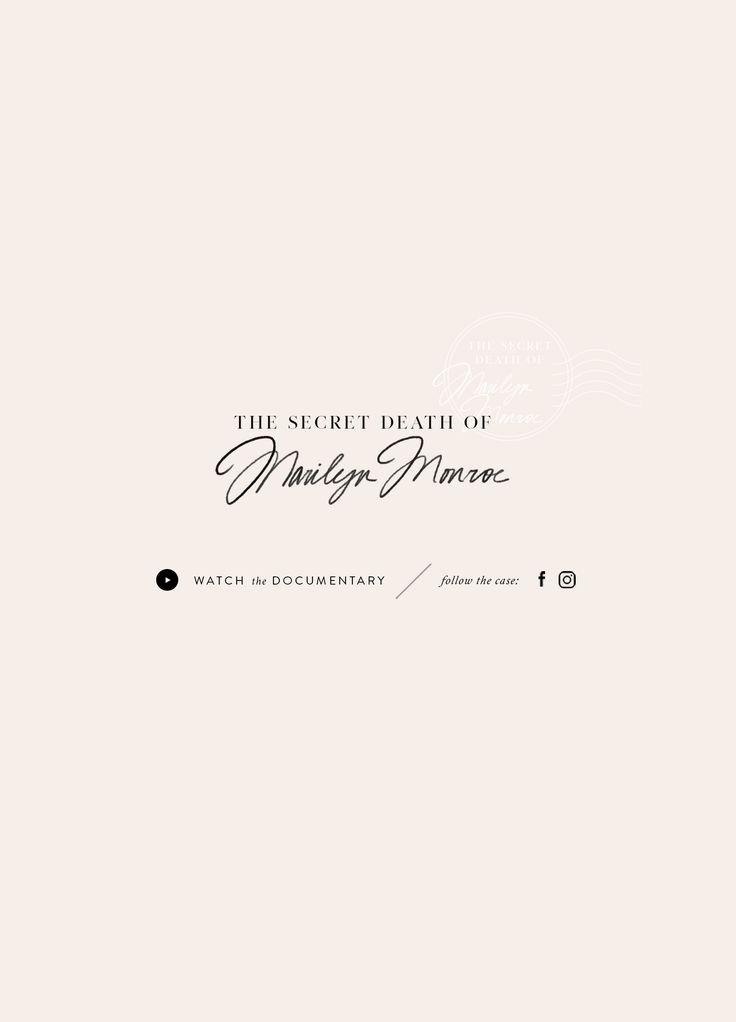 New in Portfolio: The Secret Death of Marilyn Monroe Branding– Cocorrina