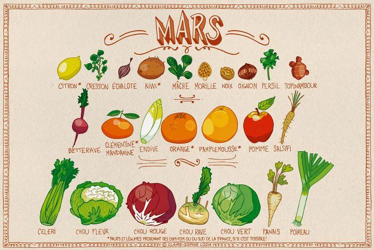 Le calendrier des fruits & légumes de Mars | pissenlit