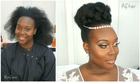 This Gorgeous Natural Hair Bride Video Tutorial Is Perfect For Any Special Event - Black Women's Natural Hairstyles - A.A.H.V
