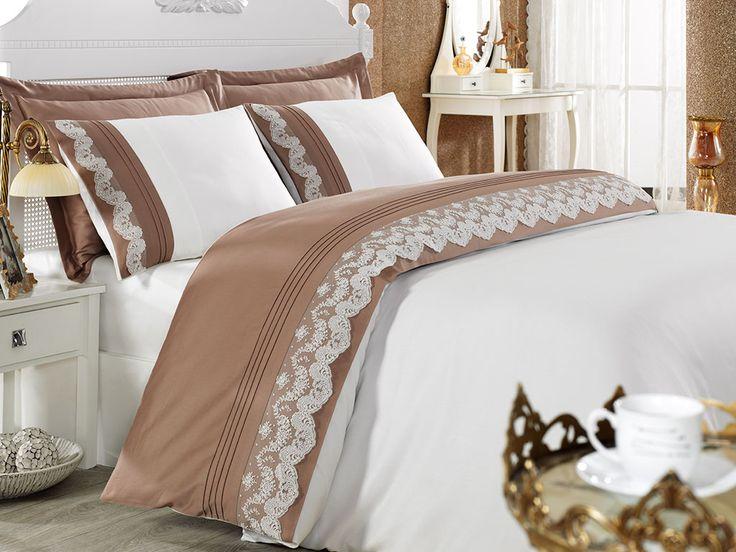 Lenjerie de pat din bumbac organic Bride disponibilă pe http://4-home.ro/magazin/lenjerii-de-pat/lenjerie-de-pat-din-bumbac-organic-bride/