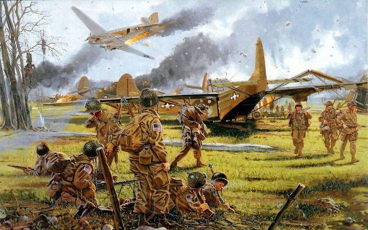 market garden air drop sept  wwii infantry