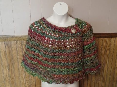 CROCHET How to #Crochet Womans Cape Capelet Poncho #TUTORIAL #256 - YouTube