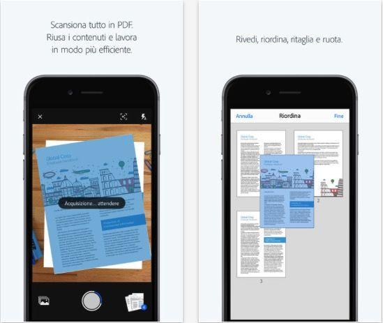 Adobe Scan la nuova app OCR che trasforma liPhone in uno scanner