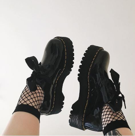 Docs and Socks: the Holly Lamper Patent shoe. Shared by lessthanemmie.