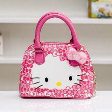 Ребенок мешочки принцесса сумка мода женская сумка девочка маленькая девочка сумка мультфильм kt кошка cross body(China (Mainland))