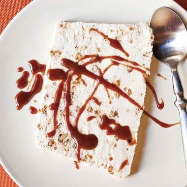 Pecan Praline Semifreddo with Bourbon Caramel from Epicurious
