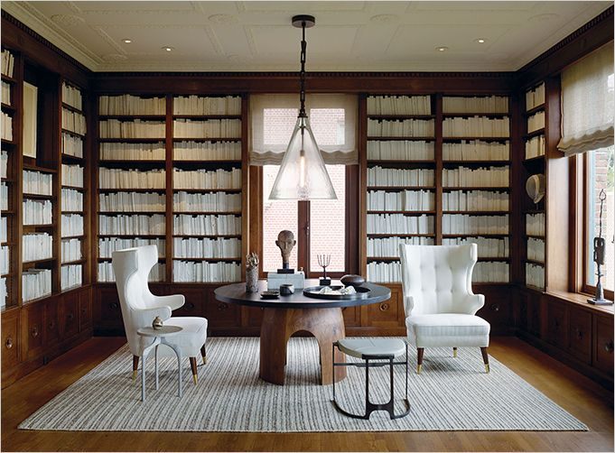 Geoffrey De Sousa's Library, white books, interiors