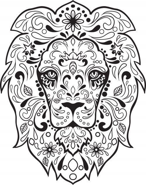 sugar skull advanced coloring 8
