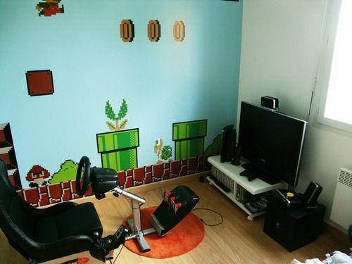 Geek room tumblr baby 39 s man cave ideas pinterest for Geek bedroom ideas
