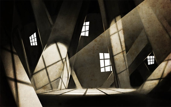 German Expressionism: expressionists looked to distort and twist the perception of reality in a variety of ways. Here seen visually with the use of angles. A cultural stereotype is also a distortion of reality.